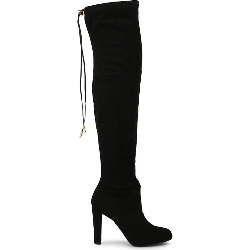CARVELA | Carvela Sammy Suede Over The Knee Boots, Women'S, Size: EUR 39 / 6 UK, Black | Goxip