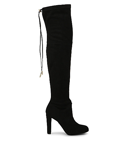 CARVELA Sammy suede over the knee boots (Black