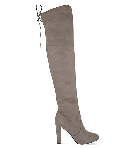 CARVELA 萨米绒面革膝上靴子 (灰色