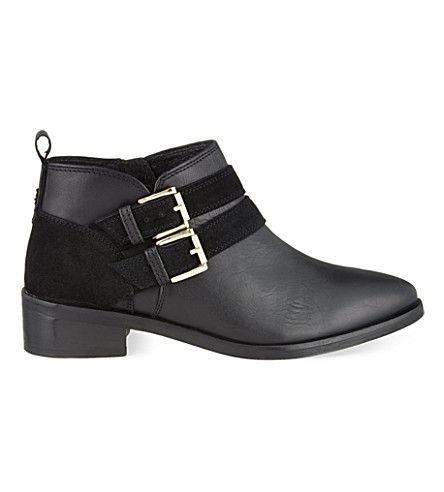 KG KURT GEIGER Salvador leather ankle boots (Black
