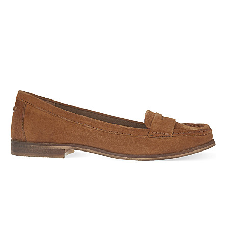 MISS KG Mallori suede loafers (Tan