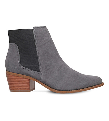 MISS KG Spider suede ankle boots (Grey