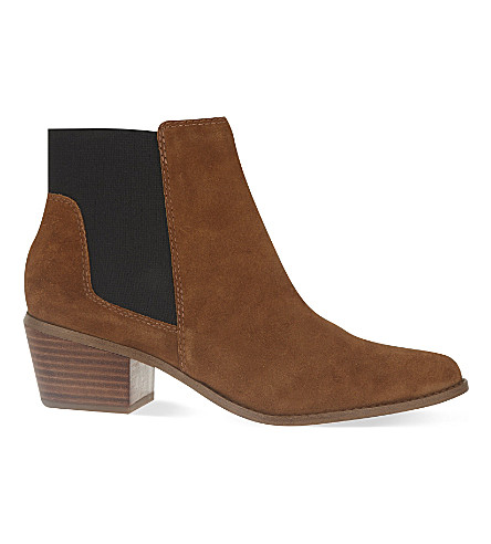 MISS KG Spider suede ankle boots (Tan