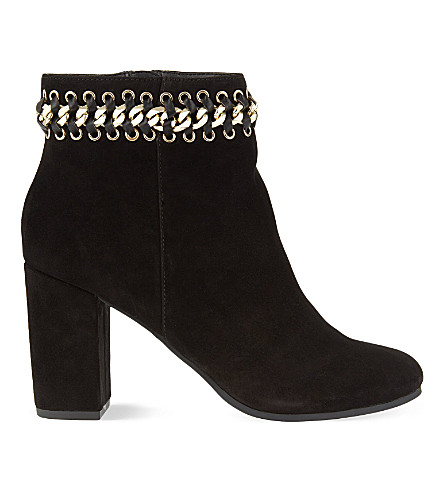 KG KURT GEIGER Sphynx suede ankle boots (Black