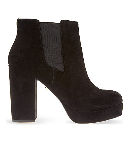 KG KURT GEIGER Sugar suede heeled ankle boots (Black