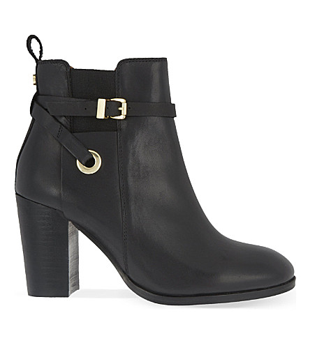 CARVELA Stacey leather heeled ankle boots (Black