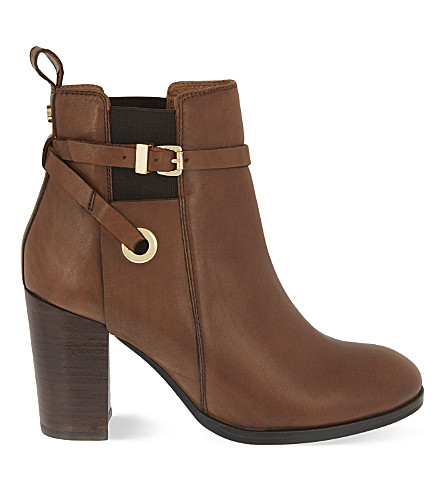 CARVELA Stacey leather heeled ankle boots (Tan
