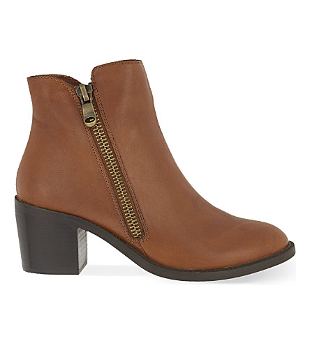 CARVELA Skim heeled leather ankle boots (Tan