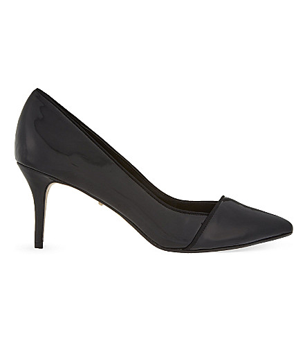 CARVELA Aura patent-leather courts (Black