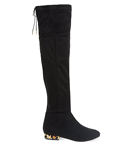 MISS KG Velvet over-the-knee boots (Black