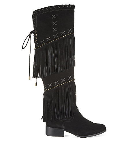 CARVELA Whip knee-high boots (Black