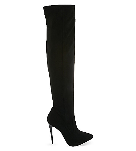 CARVELA Wow heeled over-the-knee boots (Black