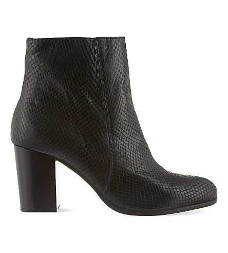 CARVELA Sherbert snake-embossed ankle boots (Black