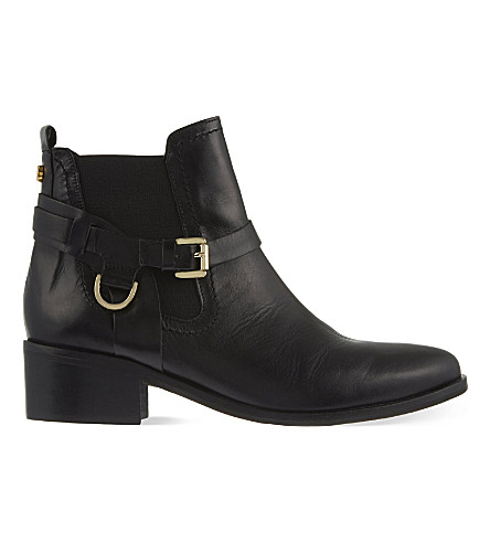 CARVELA Saddle leather Chelsea boots (Black