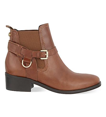 CARVELA 鞍革踝靴 (棕褐色
