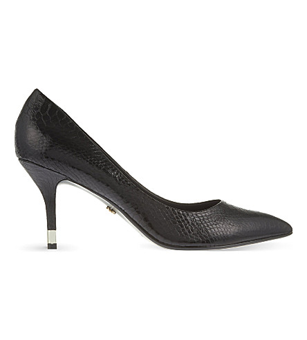 KG BY KURT GEIGER Evie snake print courts (Black