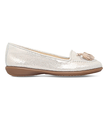 CARVELA COMFORT Como leather loafers (Gold