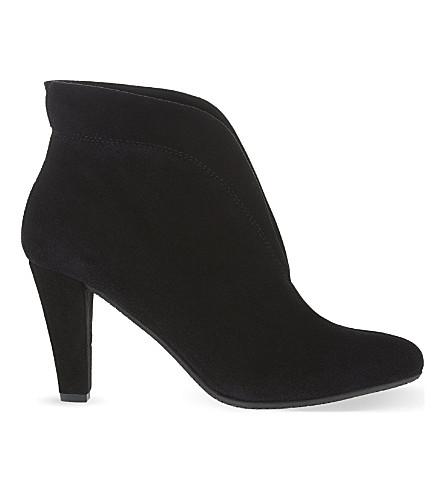 CARVELA COMFORT 达麂皮绒脚踝靴 (黑色