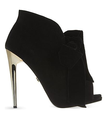 KG KURT GEIGER Jasmine heeled bow ankle boots (Black