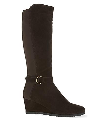 carvela comfort violet wedge boots selfridges