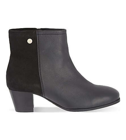 CARVELA COMFORT Rani leather & suede ankle boots (Black