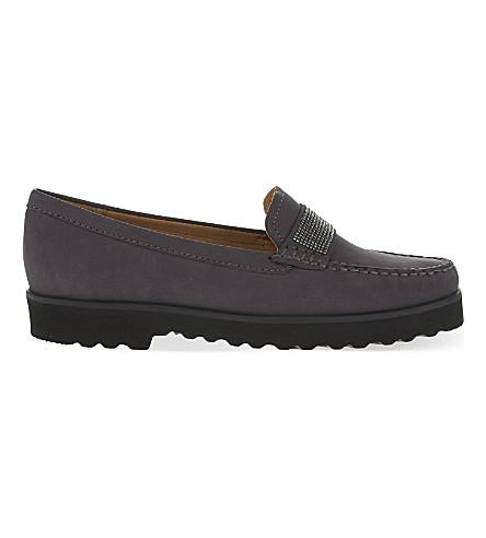 CARVELA COMFORT Charlie nubuck loafers (Grey