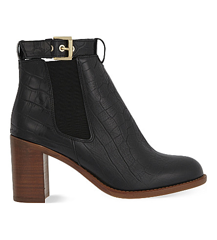 KG KURT GEIGER Sebastien leather ankle boots (Blk/other