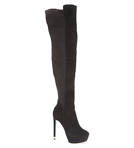 KG KURT GEIGER Vegas suede thigh boots (Black