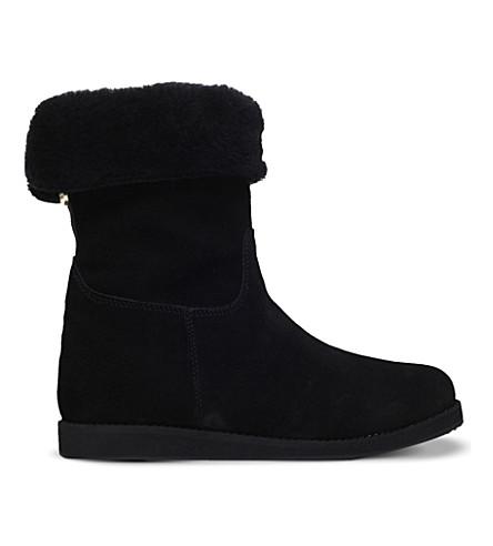 CARVELA Slide suede ankle boots (Black