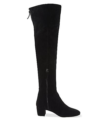 NINE WEST Arnalda suede thigh boots (Black