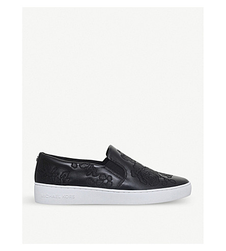 MICHAEL MICHAEL KORS Keaton star-motif leather skate shoes (Black