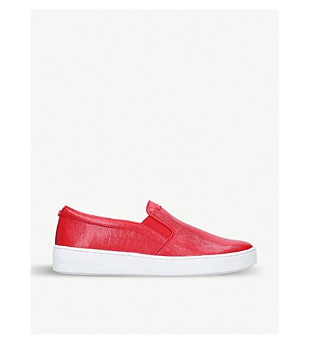 MICHAEL MICHAEL KORS Keaton logo-detailed slip-on trainers (Red