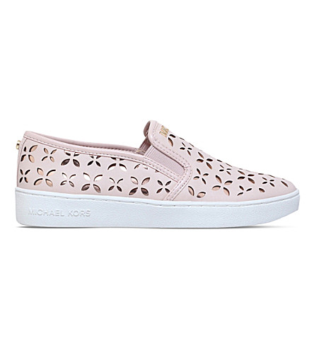 MICHAEL MICHAEL KORS Keaton laser cut skate shoes (Pale+pink