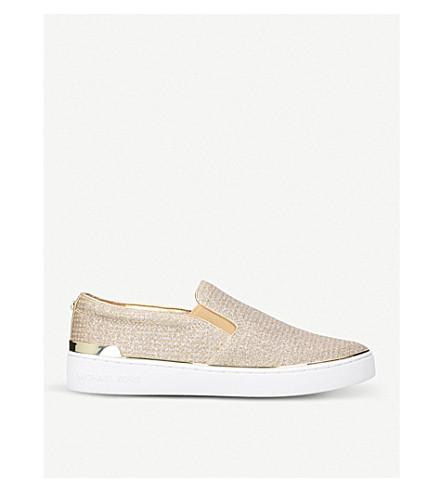 MICHAEL MICHAEL KORS Kyle metallic-leather skate shoes (Gold