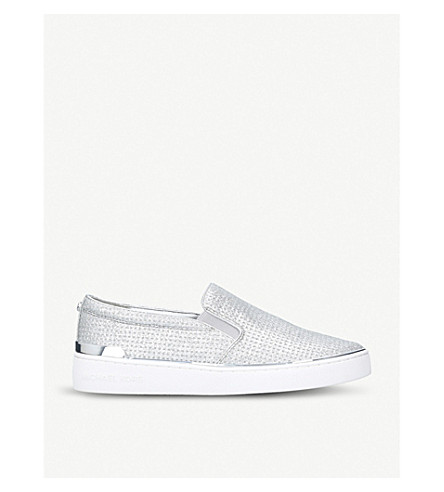MICHAEL MICHAEL KORS Kyle perforated trainers (Silver