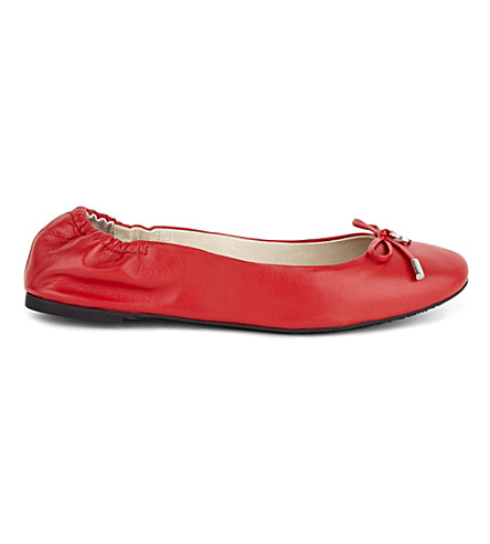 MICHAEL MICHAEL KORS Melody leather ballet flats (Red