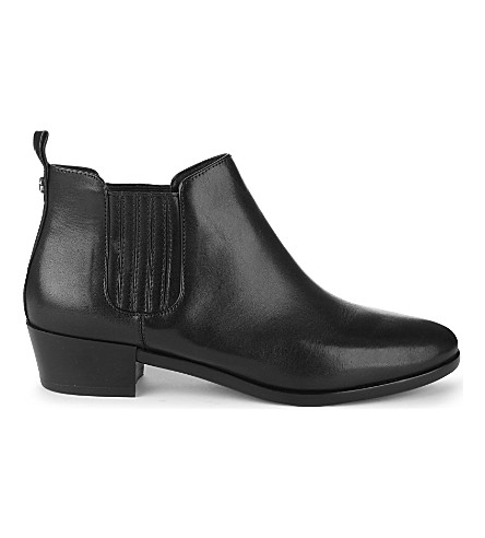 MICHAEL MICHAEL KORS Shaw leather ankle boots (Black