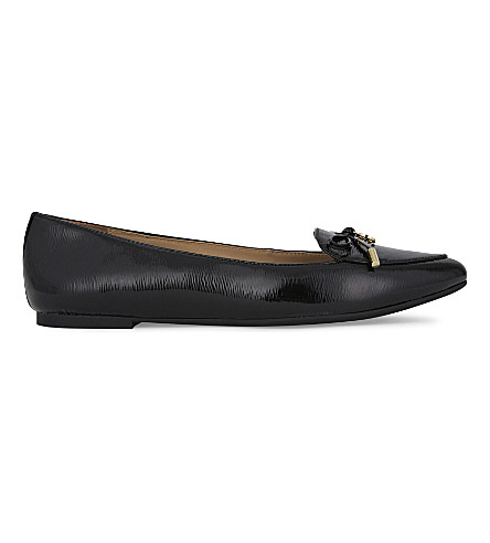 MICHAEL MICHAEL KORS Nancy bow detail leather flat (Black