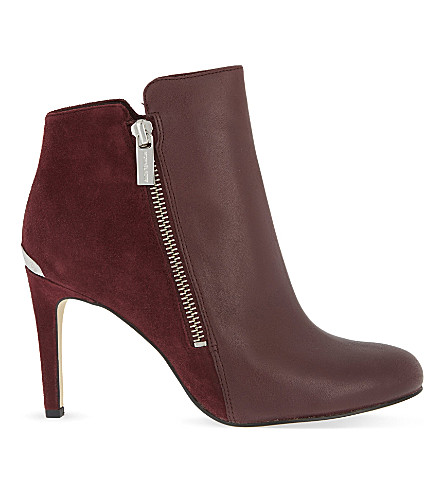 MICHAEL MICHAEL KORS Clara suede & leather heeled ankle boots (Wine