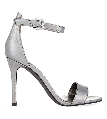 NINE WEST Mana3 heeled sandals (Silver