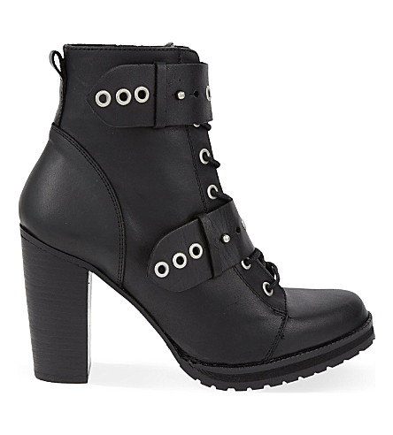 CARVELA Sophie eyelet leather ankle boots (Black