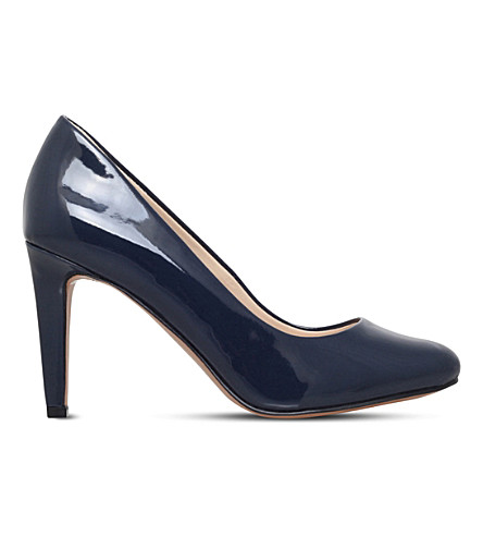 NINE WEST Handjive patent-leather court shoes (Navy