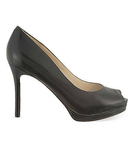 NINE WEST Firstbase leather courts (Black