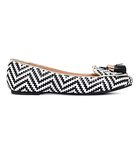 MISS KG Neptune faux-leather ballerina flats (Blk/white