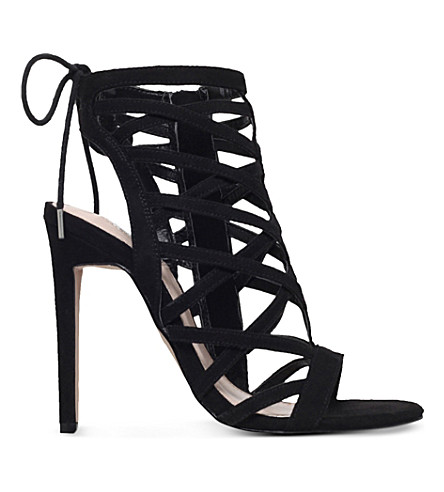 CARVELA Gracie suedette heeled sandals (Black