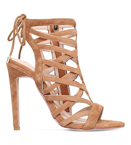 CARVELA Gracie suede heeled sandals (Tan
