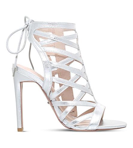 CARVELA Gracie metallic heeled sandals (Silver