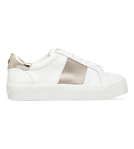 CARVELA Lotus leather low-top trainers (White/comb