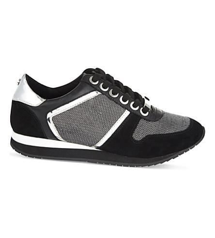 CARVELA 伦尼皮革混合运动鞋 (黑色