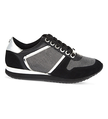 CARVELA Lennie leather-blend sneakers (Black